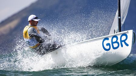 Huntingdon sailor Giles Scott during the fourth day of racing in the Finn Class at the Olympic Games