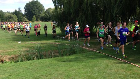Runners head through Priory Park while taking part in the St Neots 10k last Sunday.