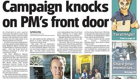 The Save Meldreth Manor campaign group took their fight to Downing Street.