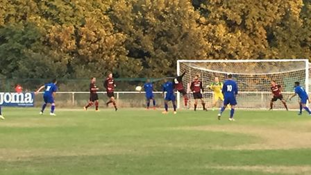Colney Heath picked up a 1-1 draw with St Margaretsbury despite playing an hour with 10 men