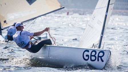 Giles Scott during the second day of Finn Class competition in Rio. Picture: SAILING ENERGY/WORLD SA