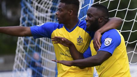 Junior Morias and Dipo Akinyemi are just two of an attacking front six for St Albans City. Picture: