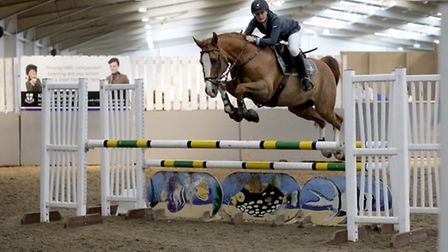 St Albans' Kerrie Goodwin on board Roscoes Golani qualified for the Horse of the Year Show. Picture: