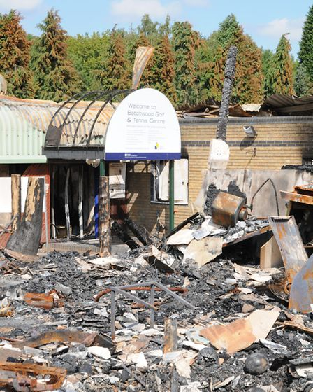 Batchwood Golf & Tennis Centre, St Albans, after the fire in 2011