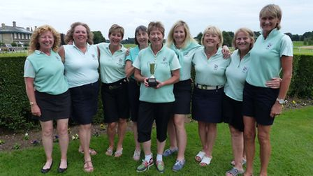 The Brampton Park team, who finished as runners-up in the Grace Norman Trophy are, from the left, Sh