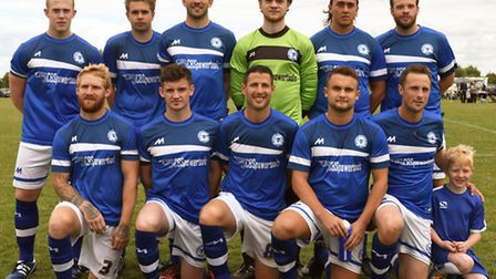 The Sawtry team who faced Stilton are, back row, left to right, Liam Littlefair, Ellis Howe, Lewis W