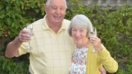 Val and Ken Keys, from St Ives, celebrating their Diamond Wedding Anniversary,