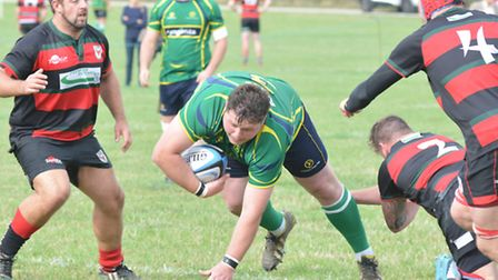 Luke Murphy of Huntingdon in action during their victory against Dronfield last Saturday. Picture: H