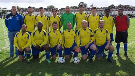 The St Albans City Youth Deaf side prior to their game against Brighton