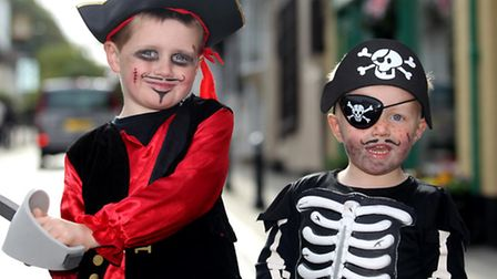 Isaac Timms and Nathaniel Timms from Royston's Pirate Day 2015.