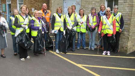 Royston's WI's AM group went on a litter-pick around the centre of Royston yesterday morning.