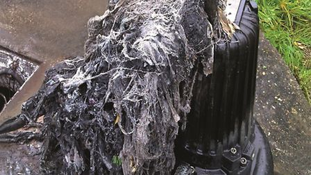 Some of the material removed from a blocked sewer.