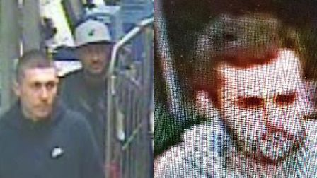 CCTV footage of three men who police wish to speak to about thefts from two St Albans vehicles has b