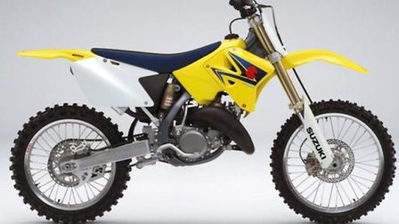 The yellow and black Suzuki RM125 was taken from Housman Road.
