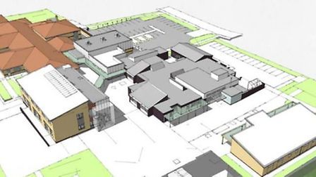Artist's impression of Sawtry Junior and Infant School following a £5.7million redevelopment