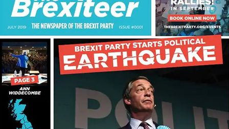 The Brexiteer newspaper is being launched by Nigel Farage. Photograph: Twitter.