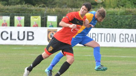 Addie Staffieri scored twice for Huntingdon in their defeat at Holbeach.