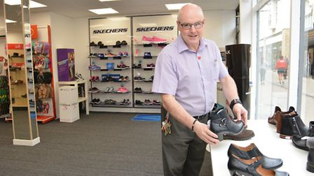 Rod Galbraith at Chequers Shoes, Huntingdon