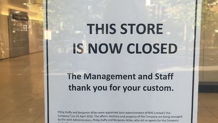 The St Albans BHS store closed on Sunday along with all other remaining shops following the recent l
