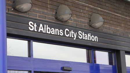 The incident happened at St Albans City Station