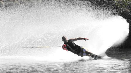 Harpenden's Jeremy Newby-Ricci on his way to the World Waterski title
