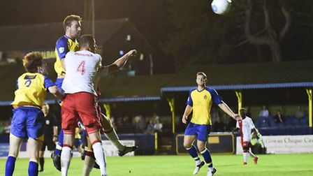 Ben Martin should be available for Saturday's trip to Ebbsfleet after a knee injury. Picture: BOB WA