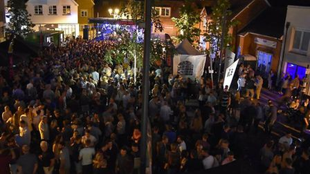 Crowds flocked to Ad Hoc's Summer Soul in the Square in Royston.