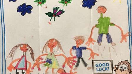 Danielle Cooper's drawing won her family a free pass to Woburn Safari Park.