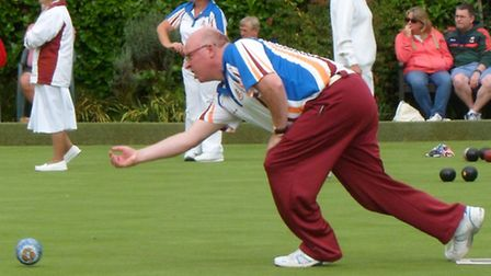 Harpenden Bowls Club's men in action at the County Divisional South finals