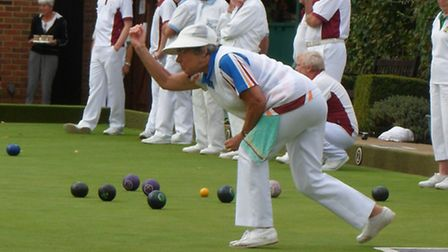 Harpenden Bowls Club's ladies in action at the County Divisional South finals