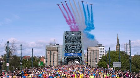 Several St Albans Striders took part in the Great North Run. Picture: STEVE DREW/PA WIRE