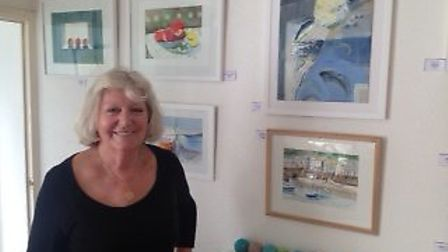 Francine Holland and paintings