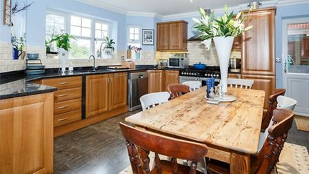 The kitchen/diner provides an ideal entertaining space