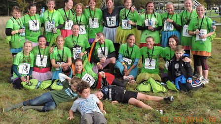 Girls4D after the Mud Pack Challenge in 2014