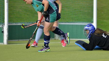 Helen Clarke scored for St Ives Ladies 1sts.