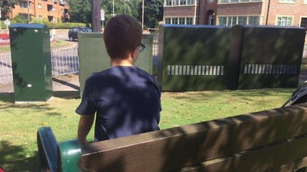 Samuel Gregorios Smith has had his favourite place to watch cars blocked by the green telecom boxes