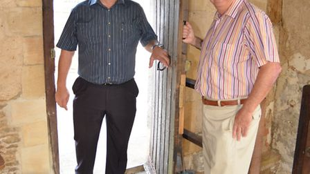St Ives Chapel open day (l-r) Councillors Paul Bullen, and Kevin Reynolds,