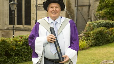 Honorary doctorate for oscar-winning Bond legend Peter Lamont, at the University of Hertfordshire Ho