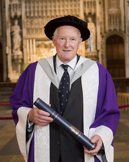 An Honorary Doctor of Laws was given to his Honour Michael Findlay Baker QC at the University of Her