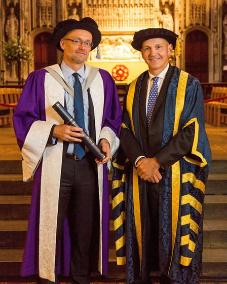 Professor Achim Dobermann was awarded an Honorary Doctorate of Science at the University of Hertford