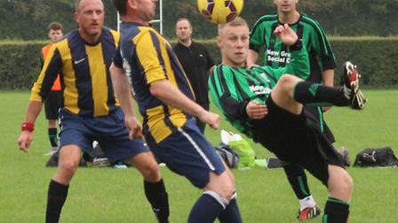 Action from Oaks' 5-1 win over New Greens