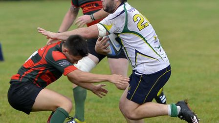 Glen McIntyre was one of the Huntingdon try scorers in their comeback success at Bugbrooke. Picture: