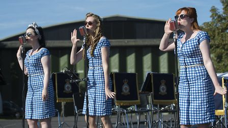 The Bluebird Belles performed at The Duxford Air Show. Picture: IWM