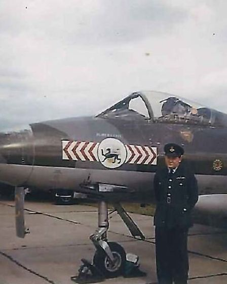 Basil Gowling MBE was posted to No 65 Squadron at RAF Duxford from 1954 to 1956. He flew Gloster Met