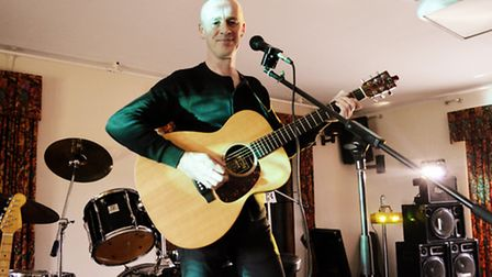 Mark Shepherd performs at Musicians Against Homelessness. Picture: Rebecca Iles Photography
