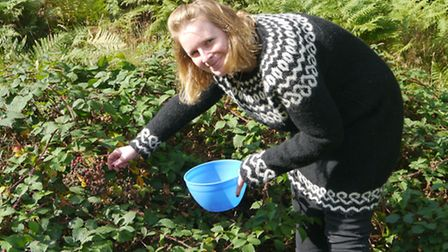 Rich harvest: Debroah sourcing ingredients for her next blackberry and apple crumble