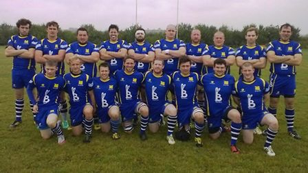 St Ives in their new kit ahead of their season-opening victory against Daventry.