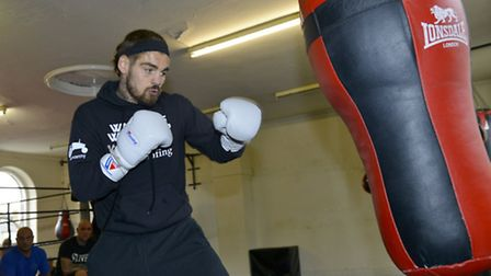 Tyler Goodjohn training ahead of his English title fight this Saturday. Picture: DUNCAN LAMONT