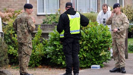 Police and Bomb Disposal teams