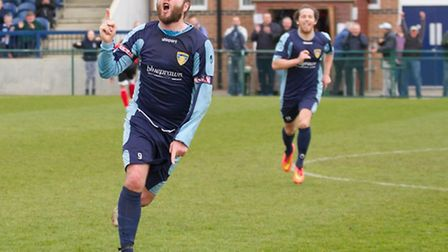Lee Clarke hopes for an upturn in form from St Neots Town tonight. Picture: CLAIRE HOWES